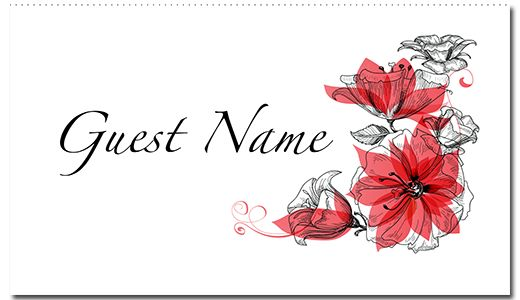 Romance Suite Guest Place Card - paper, seed, place, cards, printed, plain, add, ... - EcoCelebrations