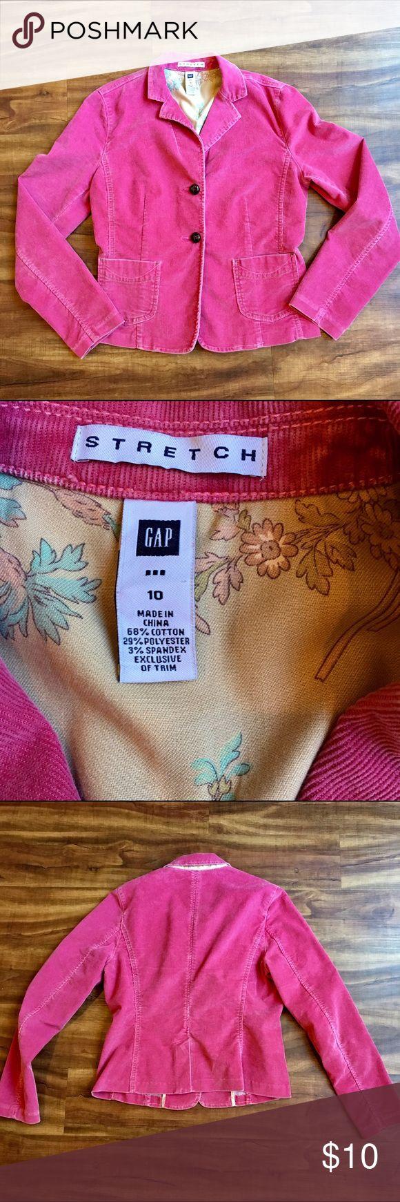 Vintage GAP jacket GAP pink corduroy blazer size 10. Vintage look in good condition  20% off bundles GAP Jackets & Coats Blazers