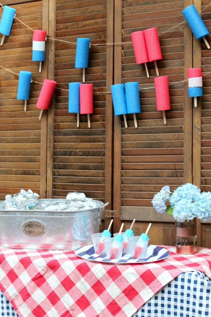 End of School Year Popsicle Party