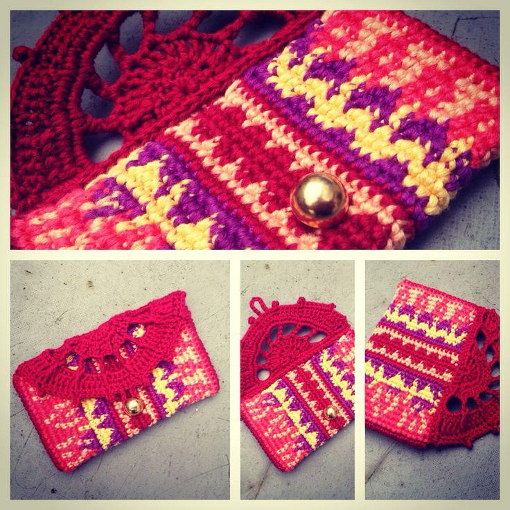 Tapestry Crochet Mobile Case / Purse /// Häkel Handy Tasche / Hülle