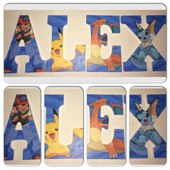 custom wooden letters pokemon wood letter by younameitbyjessica