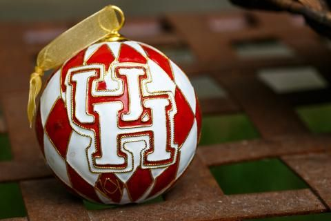UH Harlequin 24k Gold Plated Cloisonné Ornament | University