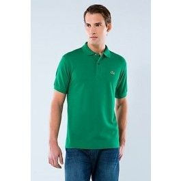 lacoste men polo shirt dark green