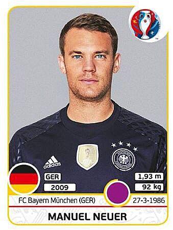Manuel Neuer Eurocup 2016 France - die Mannschaft