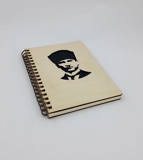 Ahşap Kapaklı Atatürk Defter / Ajanda #ahşap #kapaklı #atatürk #defter #ajanda #mağazası