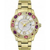 VOGUE Jaipur Crystals Gold Stainless Steel Bracelet 97023.1