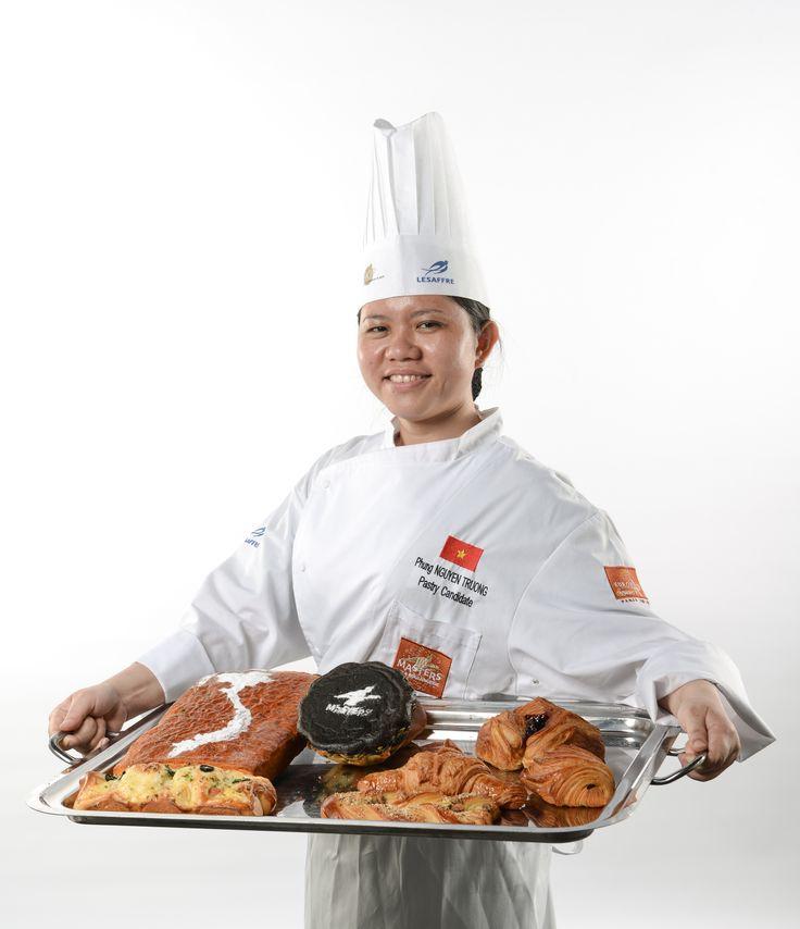 Masters de la Boulangerie 2014 – candidate du VIETNAM, Truong Kim Phung NGUYEN, catégorie Viennoiserie /2014 Bakery Masters – candidate from VIETNAM, Truong Kim Phung NGUYEN, Viennese pastry category  Copyright Sabine SERRAD