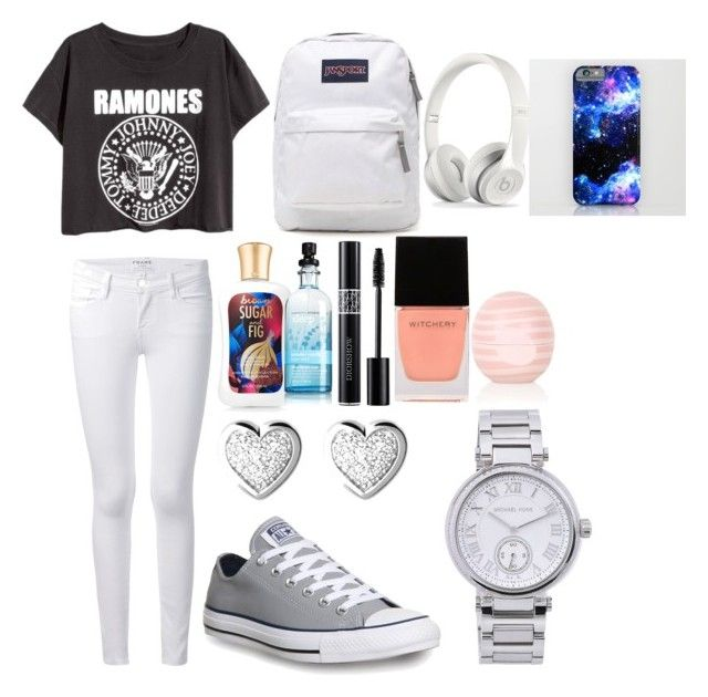 Back to school outfits for middle school #5 by shamya2003 on Polyvore featuring polyvore, fashion, style, Frame Denim, Converse, JanSport, Michael Kors, Links of London, Topshop and Witchery