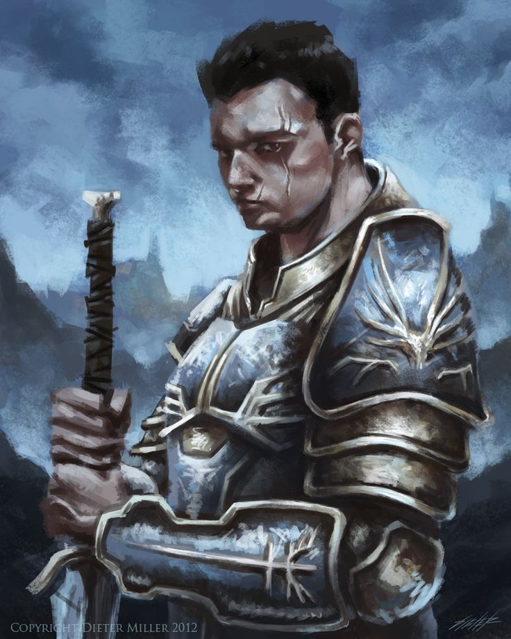 Paladin Dandd Portrait 3 hour paladin speed painting by ~dietermiller ...