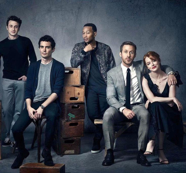 La La Land family: Justin Hurwitz, Damien Chazelle, John Legend, Ryan Gosling and Emma Stone #lalaland #justinhurwitz. damienchazelle, johnlegend, ryangosling, emmastone