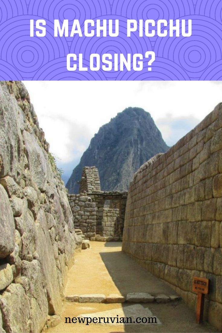 There are always rumors about Machu Picchu closing. But the chances of #MachuPicchu being closed are slim indeed...