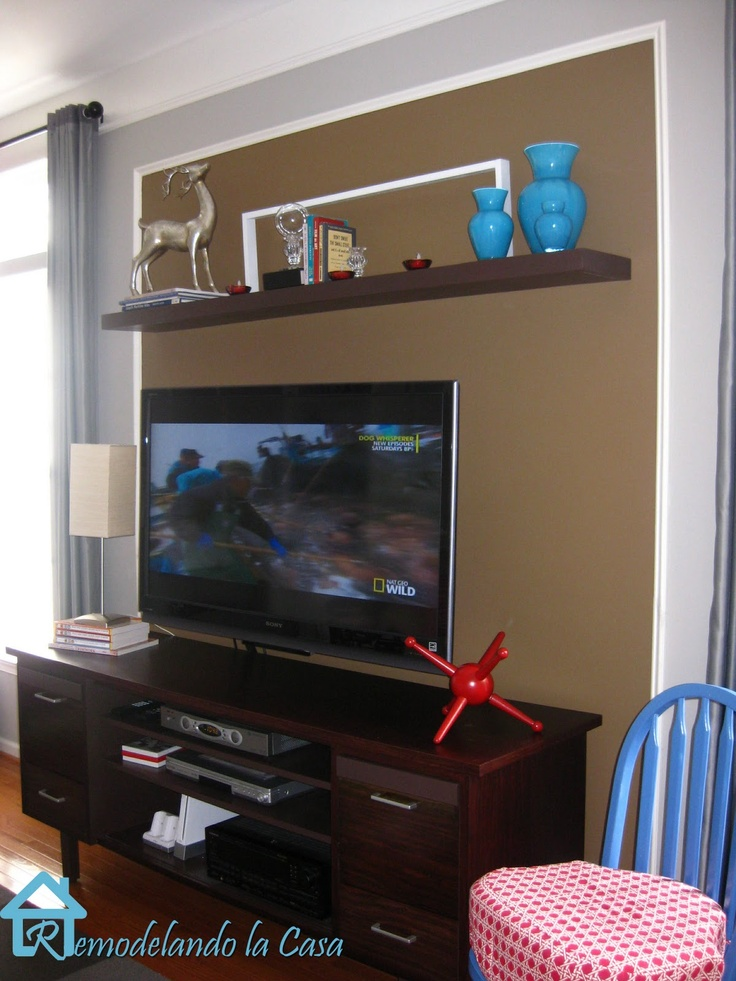 Wall Decoration Above Tv : Ideas about shelf above tv on condo