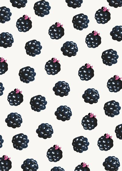 Blackberries pattern by Georgiana Paraschiv