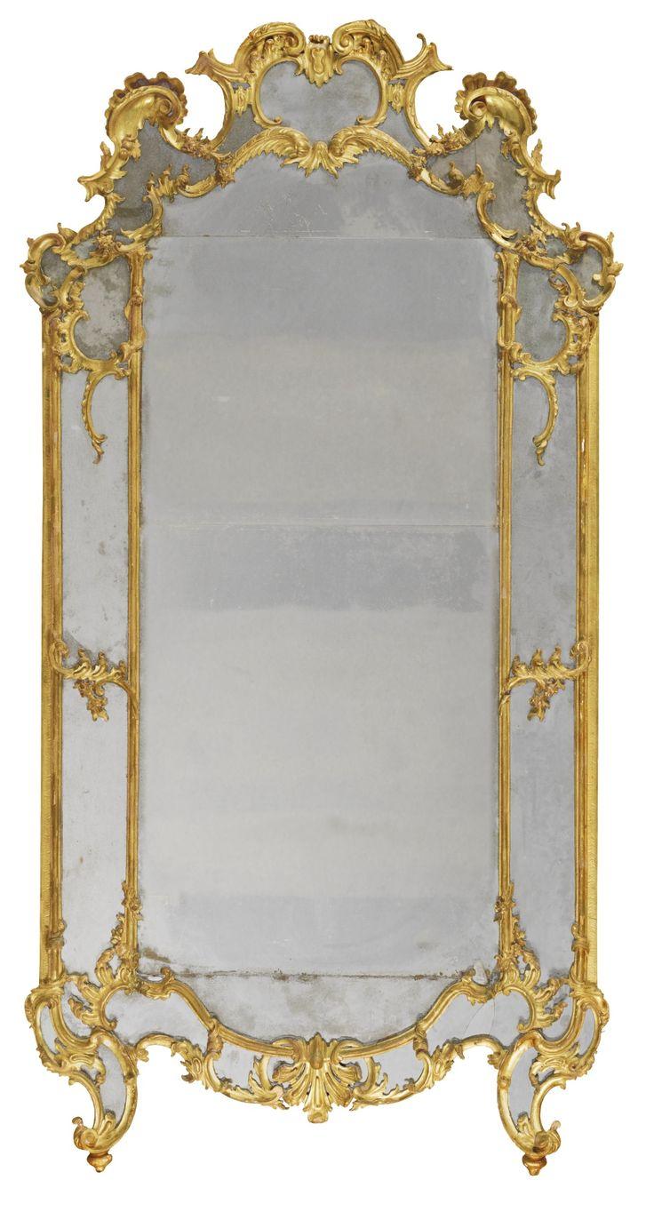 ITALIAN CARVED GILTWOOD MIRROR, PIEDMONTESE CIRCA 1750