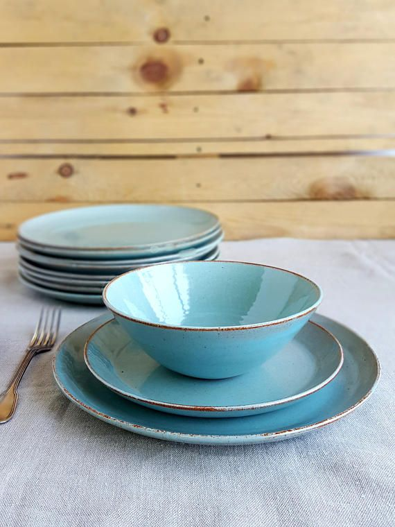 Light Blue Dinnerware Dinnerware Set Stoneware dinnerware