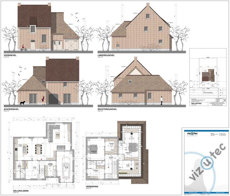 Vizutec: voorontwerp van landelijke woning met rieten dak