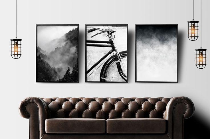 PLAKAT zgrafiką: Chmury