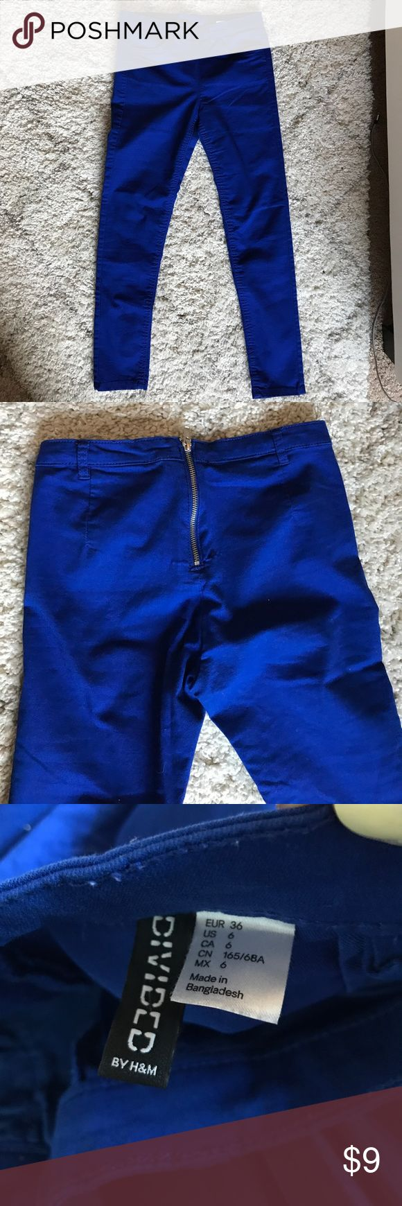 Divided Royal Blue Skinny pants Love the zipper up back! Very slimming, love these pants! Divided Pants Skinny