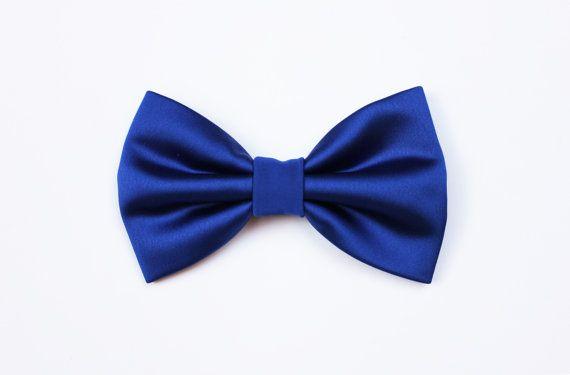 Farfallino per uomo blu reale lucido elegante di ScoccaPapillon
