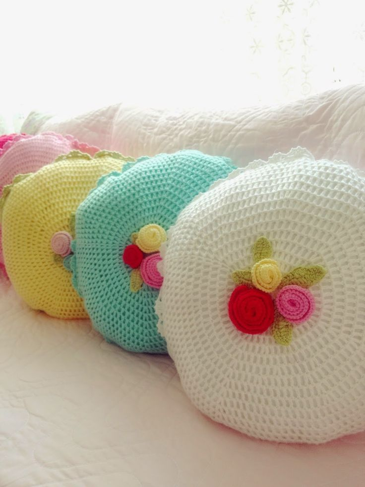 Pretty crochet cushions @ Sweet Elis Home