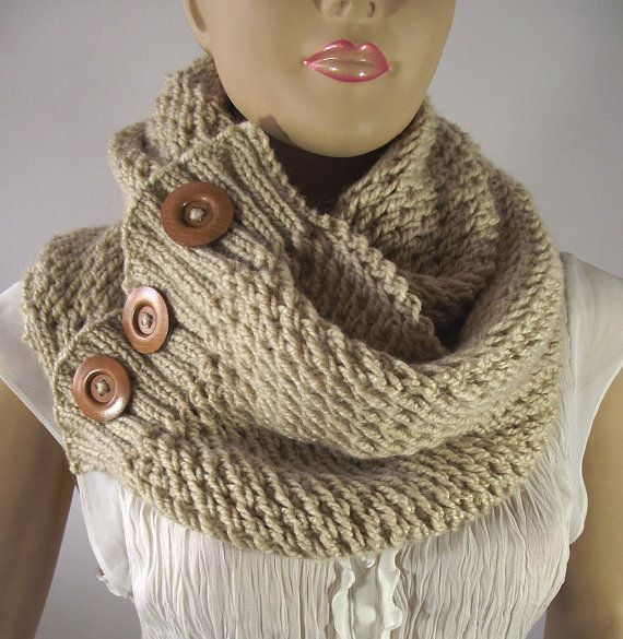 KNITTING PATTERN Big Scarf Cowl  Lou Lou Scarf by LiliaCraftParty