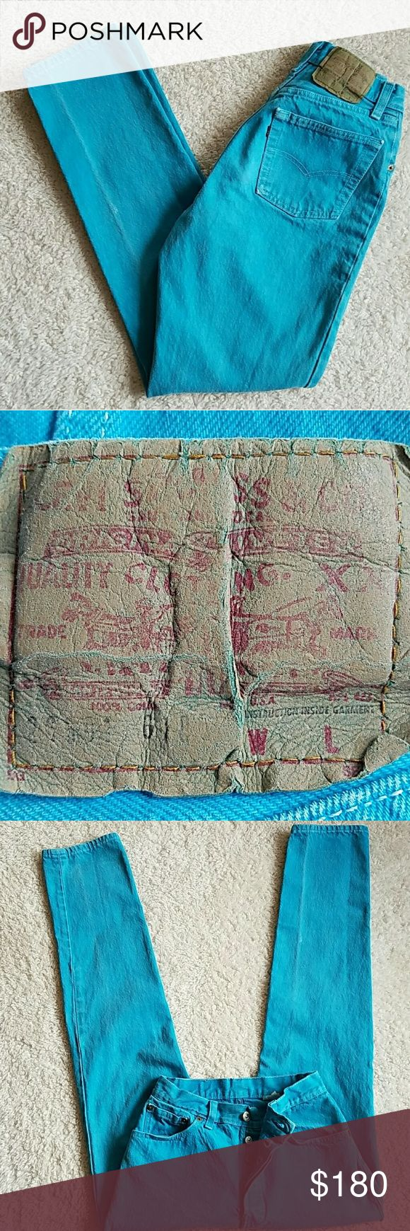 VINTAGE LEVI'S 501 BUTTONFLY JEANS LEVI'S 501 BUTTONFLY JEANS~VINTAGE ☆TURQUOISE☆RARE☆ TAGGED: 11 MEASURED: W25 L30 RISE:11 HIPS:36 TINY BIT OF DISTRESS AT BASE OF FLY #LEVI'S #501 #VINTAGE # #BUTTONFLY #DENIM #JEANS #OLD #TURQUOISE #25 #DISTRESSED #VINTAGE501  #VINTAGE LEVI'S  I LOVE THESE. I'VE THAT MOST OF MY LIFE ♡♡♡♡♡♡♡♡♡♡♡♡♡♡♡♡♡♡♡♡♡♡. PRICE IS FIRM. Vintage Jeans