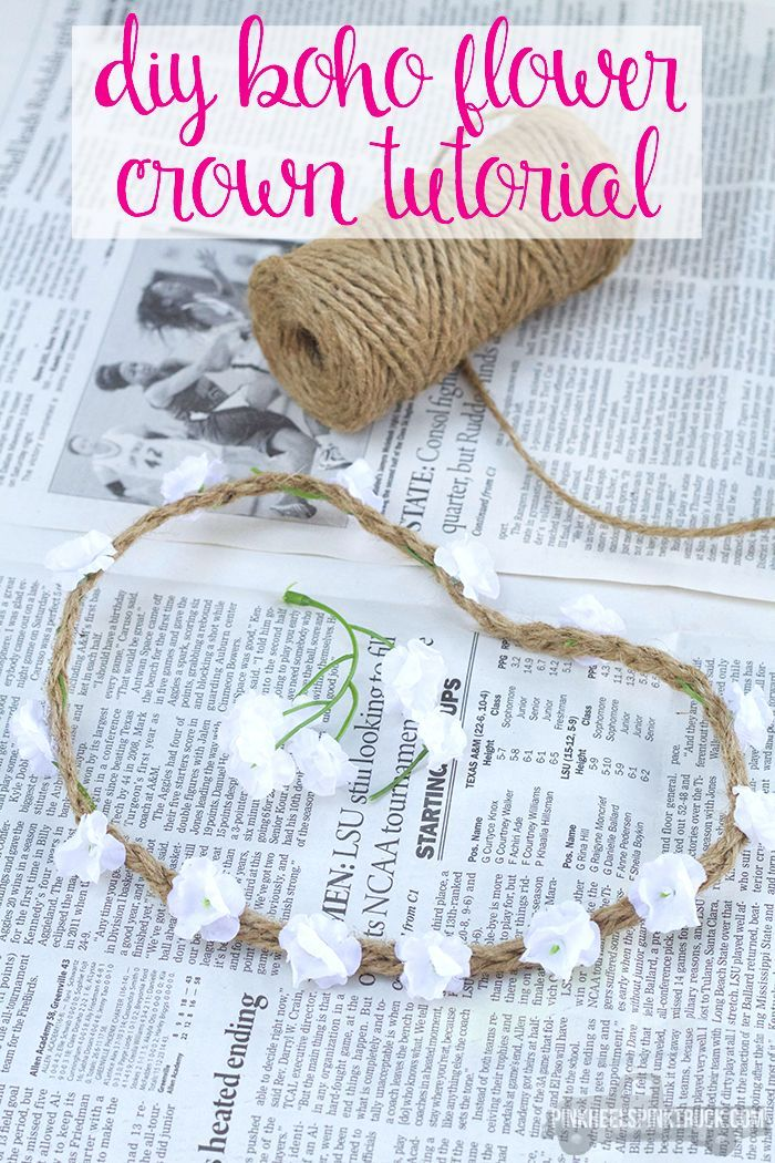 DIY Boho Flower Crown Tutorial. This would be a nice for an outdoor wedding.
