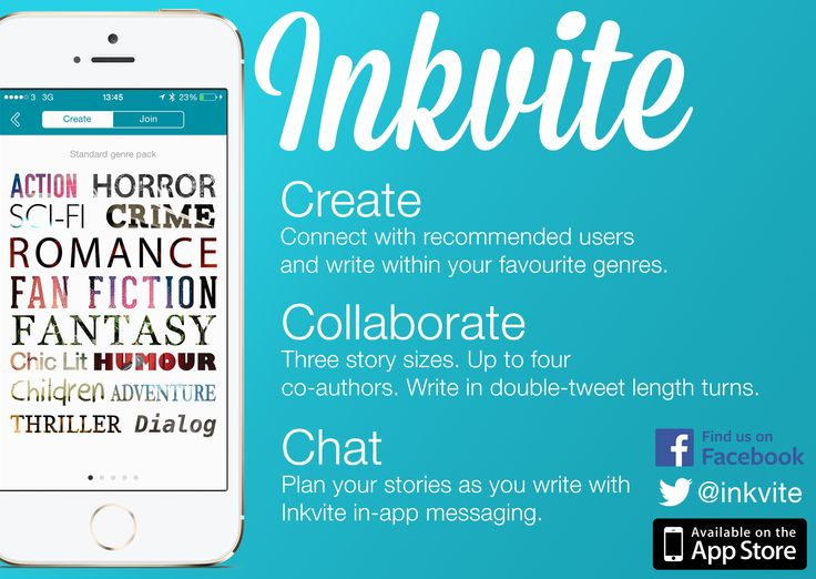 Look out for Inkvite postcards which we'd like you to write collaborative short stories on the back of!