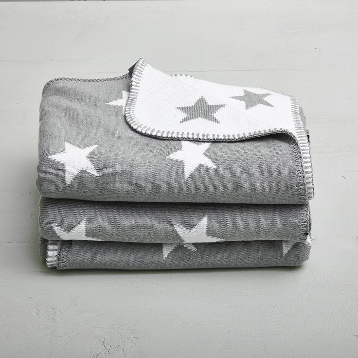 Grey Stroller Blanket with Stars