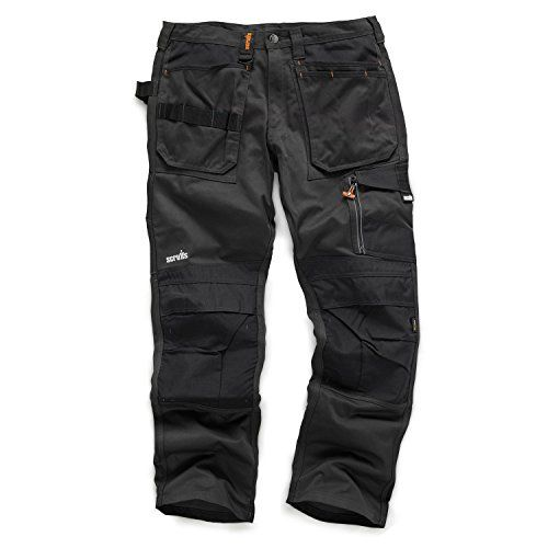 "From 39.99 Scruffs 3d Trade Hard Wearing Black Graphite Grey Work Trousers All Sizes (36"" Waist Regular Leg Graphite Grey)"