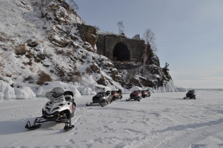 Snowmobiling in Baikal