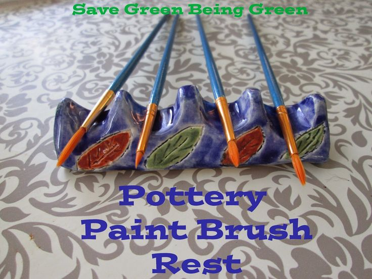 Pottery Time: Paint Brush Holder made by hand building