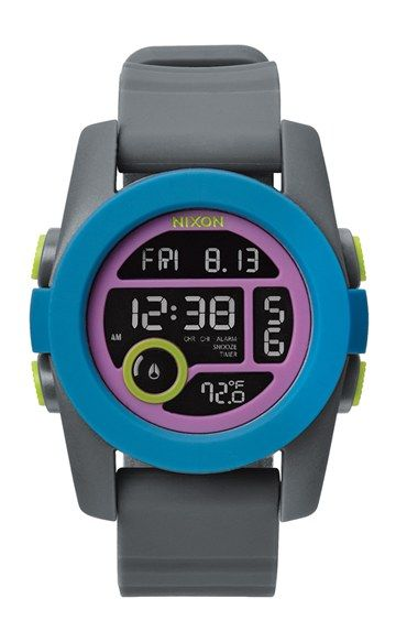 Nixon 'The Unit 40' Round Digital Watch, 40mm available at #Nordstrom