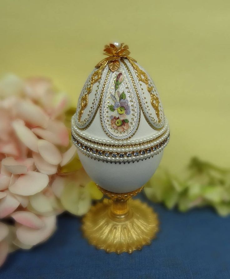 995 best hsvt images on pinterest craft kids easter crafts decorated egg real goose egg egg jewelry box swarovski crystal and pearls decoration easter gift ideas for friends easter egg negle Image collections