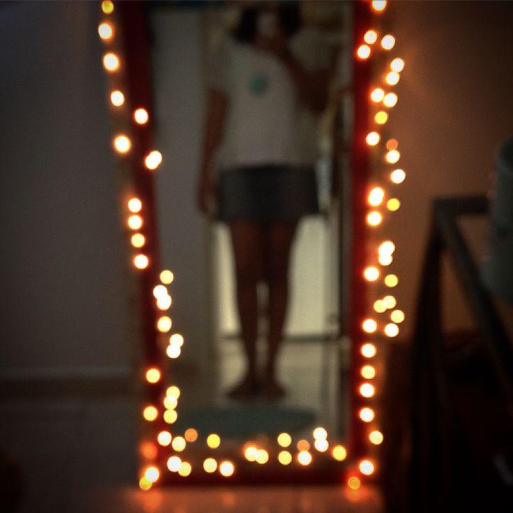 Espelho + piscas = ❤️