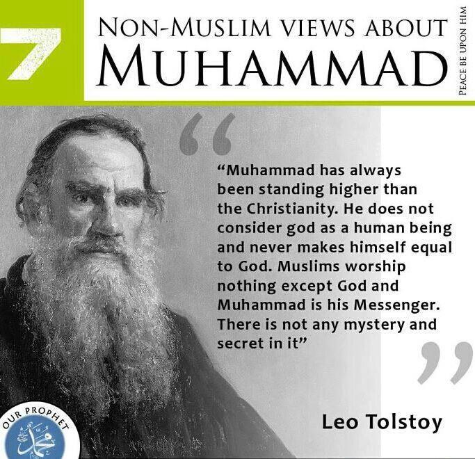 Leo Tolstoy about Prophet Muhammad salallahu alaihi wa sallam