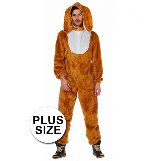 Grote maten haas kostuum voor volwassenen. Compleet hazen kostuum voor volwassenen. Het haas kostuum bestaat uit een jumpsuit met capuchon.