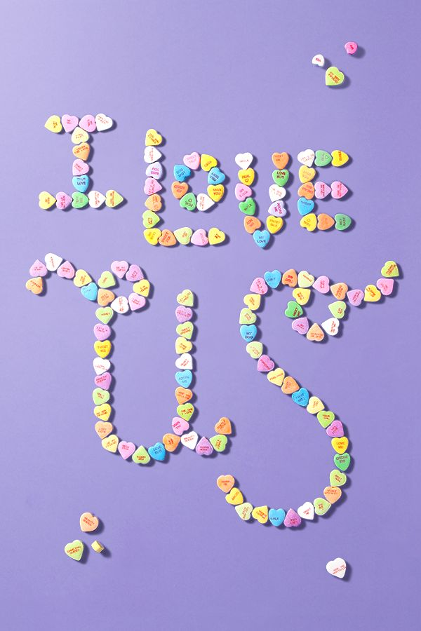 Make your own message with candy hearts!