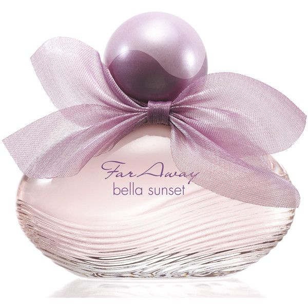 Far Away Bella Sunset Avon perfume - a new fragrance for women 2015 ❤ liked on Polyvore featuring beauty products, fragrance, perfume fragrances, floral perfumes, avon, avon perfume and parfum fragrance