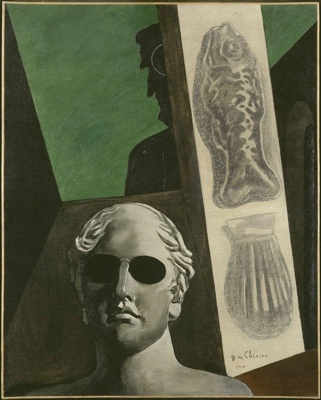 Giorgio De Chirico (1888 - 1978)  Portrait [prémonitoire] de Guillaume Apollinaire (Portrait de Guillaume Apollinaire, Ritratto [premonitore] di Guillaume Apollinaire) printemps 1914