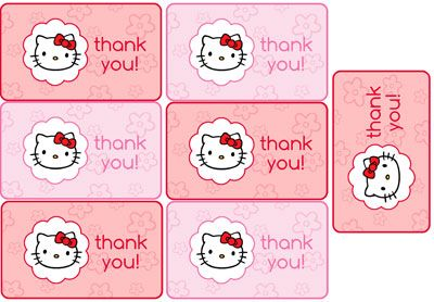 Free Hello Kitty Favor Tags from PrintableTreats.com
