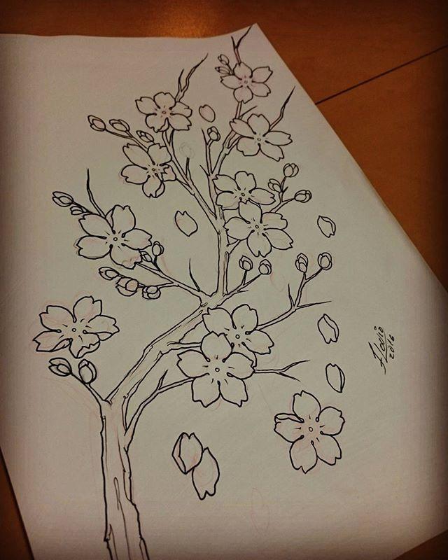 Ja ja pra pele, sakuras flor simbolo do Japão #sakuras #flordecerejeira #japan #tourjapan #electricink #electricinkpigments #flavio_tattoo