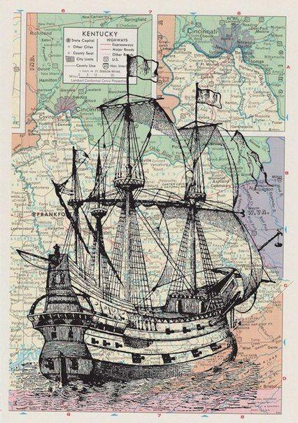 Картинки кораблей для декупажа .. Обсуждение на LiveInternet - Российский Сервис Онлайн-Дневников
