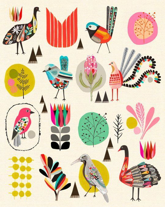 but maybe funky parrots/owl?