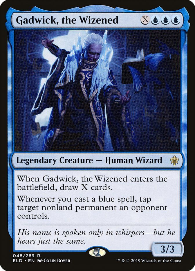 X U U U Legendary Creature Human Wizard 3 3 When Gadwick The Wizened Enters The Battlefield In 2020 Dungeons And Dragons Memes Magic Cards The Gathering