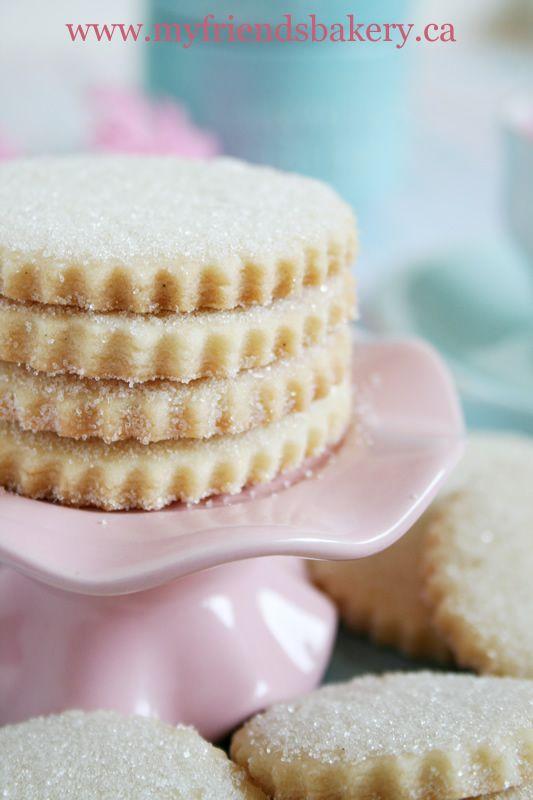 vanilla sugar shortbread