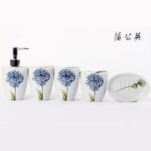 Одуванчик в Цзиндэчжэнь Керамическая сантехника набор из пяти европейских ванной продуктов мыть подходит для вашей чашки держатель зубной щетки