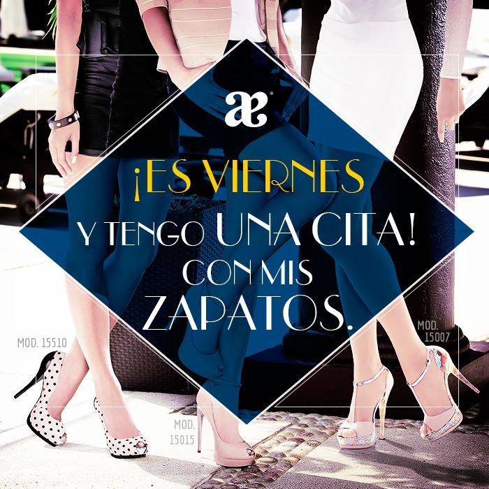 Una #cita con tus #zapatos. #ModaAndrea #Fashion #Glamour