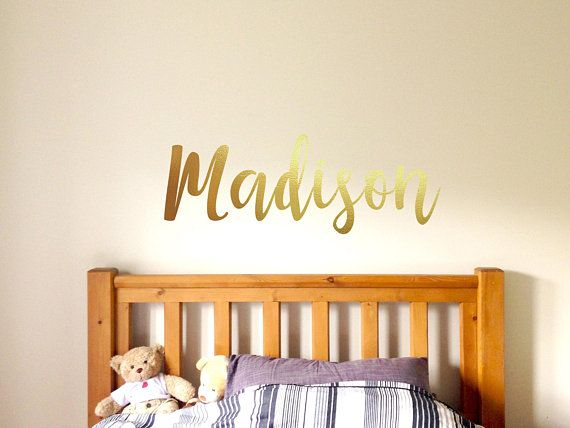 Custom Baby Name Decal Personalized Nursery Decor S Bedroom Wall For Kids Sticker
