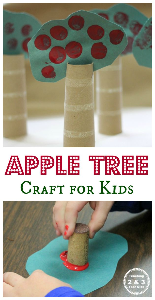 "Fall Tree Craft for Preschoolers with the Book ""10 Red Apples"" - Teaching 2 and 3 Year Olds"